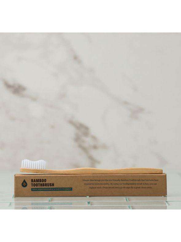 Simple Man Bamboo Toothbrush