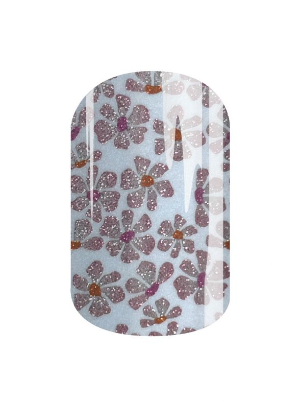 Glittery Blooms - Nail Wrap