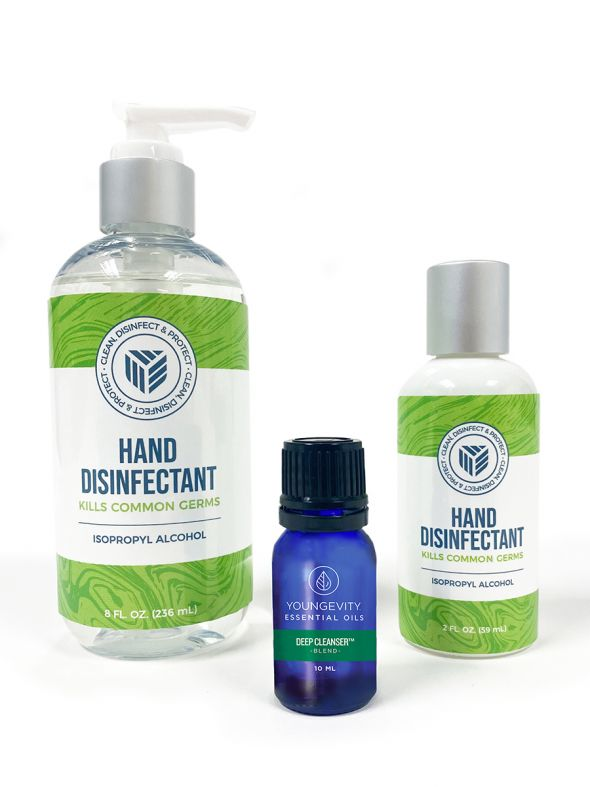 Youngevity Hand Disinfectant – Essential Oil Bundle